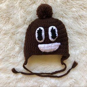 Poop Emoji Baby Winter Hat Size 3-6 Months